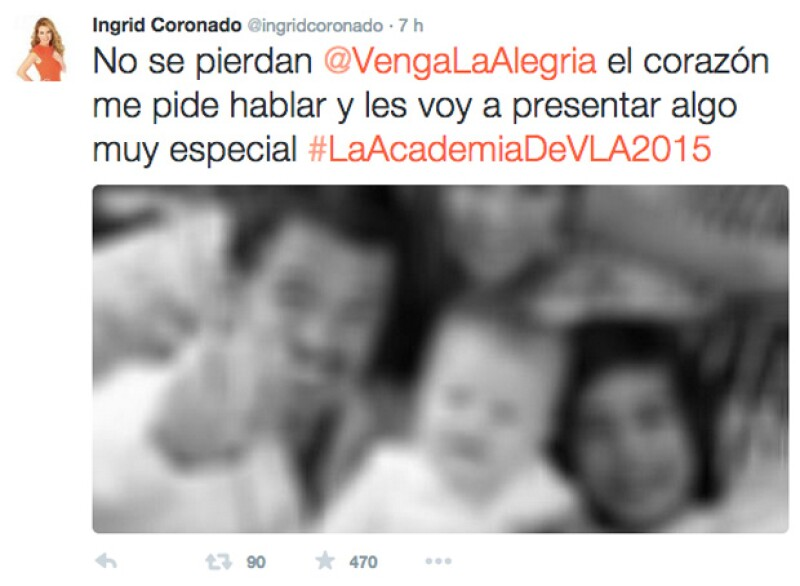 Desde temprano, Ingrid publicó en su perfil la sorpresa que tenía preparada, pero también una foto en la que se podía distinguir a Fernando y a sus dos hijos.