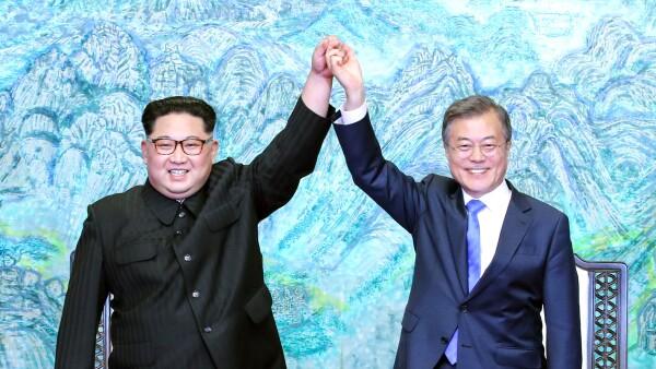 Kim en la Cumbre de las Coreas