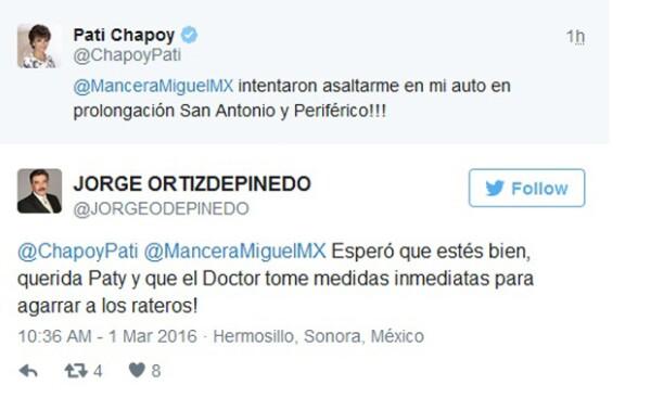Pati Chapoy le mandó mensaje a Miguel Ángel Mancera.