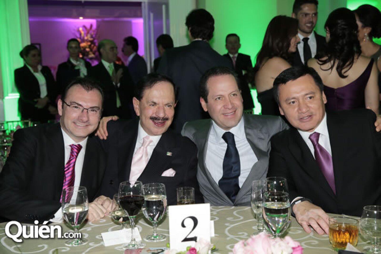 Luis Videgaray (Secretario de Hacienda y Crédito Público),Juan Francisco Ealy Ortiz,Eruviel Ávila (Gobernado del Estado de México),Miguel Ángel Osorio Chong (Secretario de Gobernación)