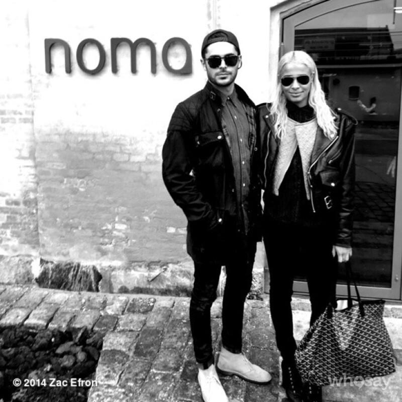 Zac publicó apenas el 14 de octubre esta foto con Sami Miró en su Instagram. Están fuera de un famoso restaurante de Copenhague, Dinamarca.