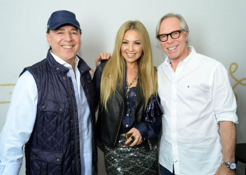 Thalía y Tommy acompañaron a Hilfiger en su día especial en el Fashion Week.
