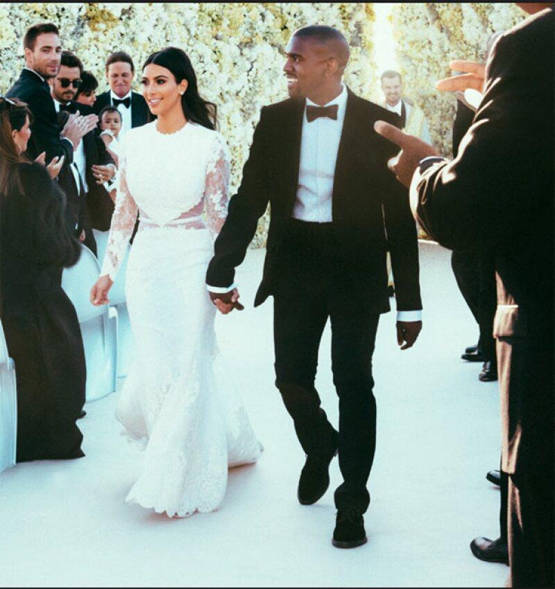 Kim y Kanye se casaron en mayo de 2014.