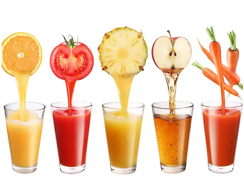 Trata de consumir más jugo de verduras que de frutas.