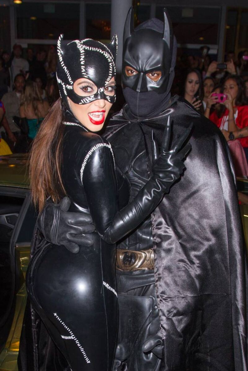 Kanye se disfrazó de Batman para combinar con Kim en Halloween del 2012.