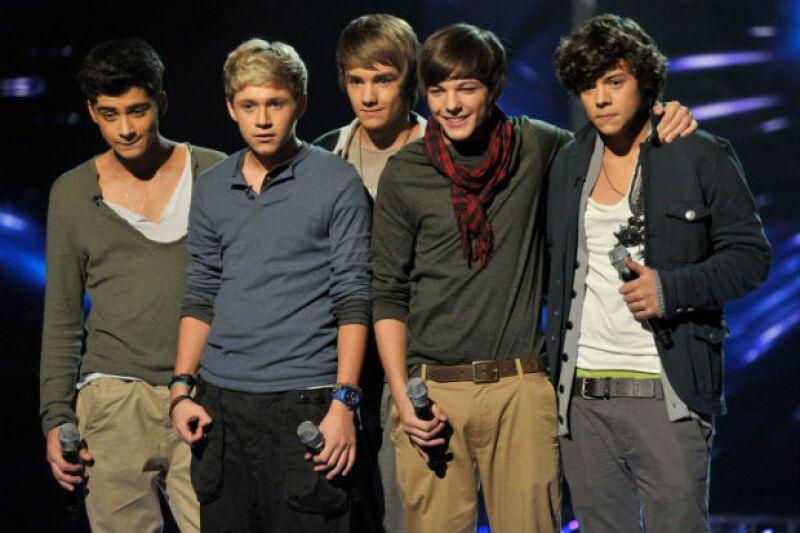 Los One Direction de X Factor aún no pulían su look que conocemos hoy en día.