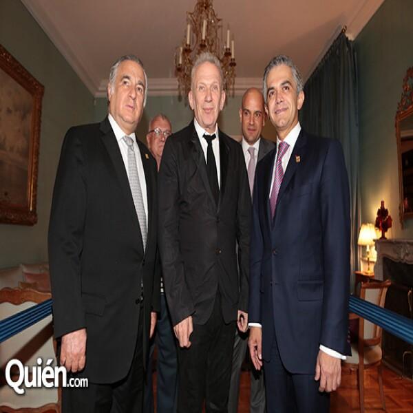 Miguel Torruco,Jean Paul Gaultier,Manuel Rivera,Miguel Ángel Mancera