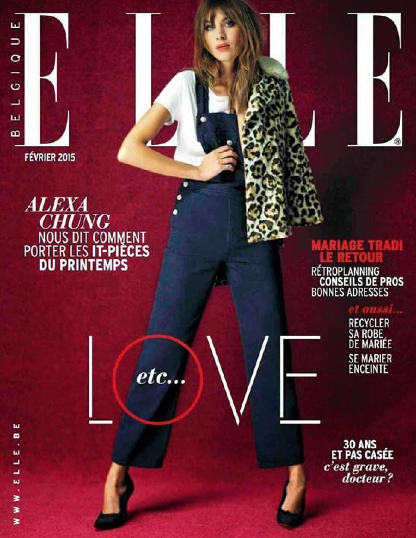 Alexa Chung impacta en la portada de ELLE Bélgica.