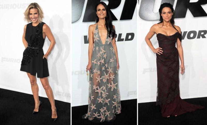 Elsa Pataky, Michelle Rodriguez y Jordana Brewster no se quedaron atrás en cuando a sensualidad y outfits se refiere.