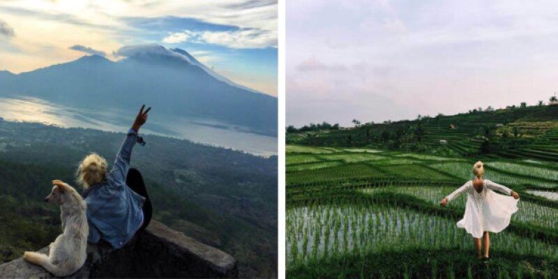 Dear Milano disfrutando de algunas de los marivollosos paisajes de Bali.