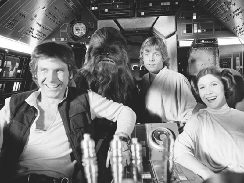 Harrison Ford en 1977.