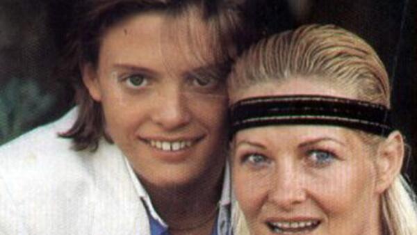 Luis Miguel y su madre Marcela.