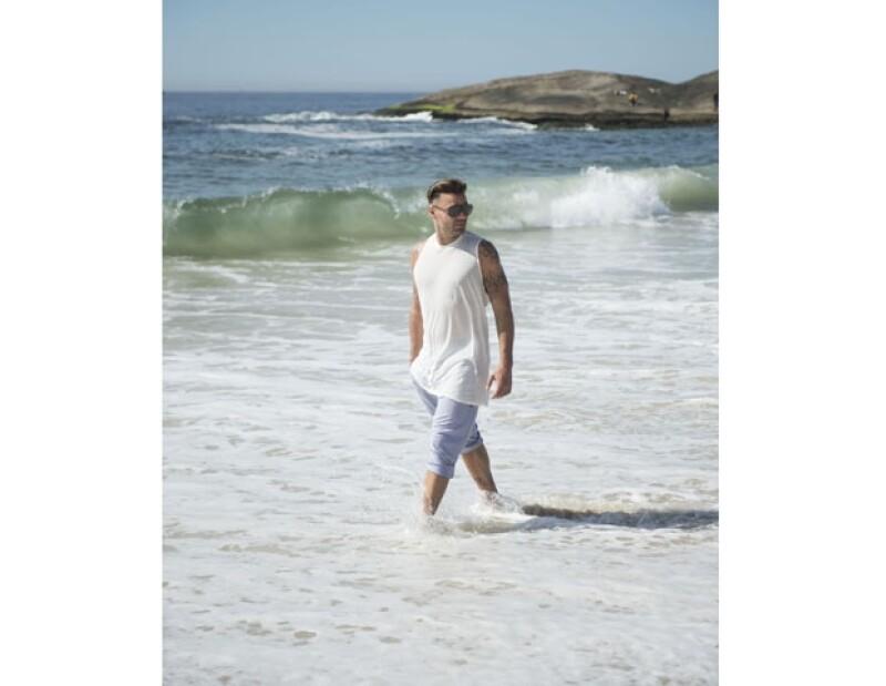 Ricky disfrutó de su estancia en Brasil y del buen clima de sus playas.