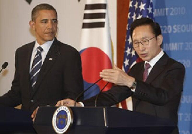 El acuerdo para el Tratado de Libre Comercio entre EU y Corea del Sur debe ser ratificado por el Congreso. (Foto: AP)