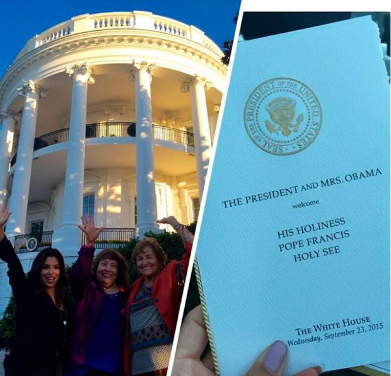 Eva fue parte de los invitados exclusivos a la Casa Blanca.