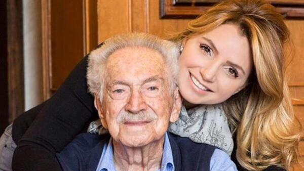 Angélica Rivera y su abuelo