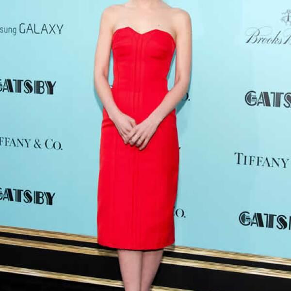 Sencilla pero muy elegante, así lució la estrella de `El gran Gatsby´ en un vestido Lanvin de la temporada Otoño 2013.