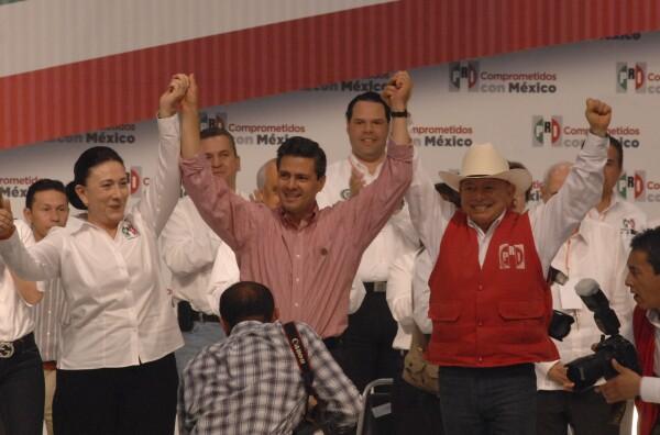 durante la campaña de Enrique Peña Nieto.