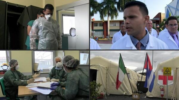 Coronavirus, un día en la misión de los médicos cubanos en Italia