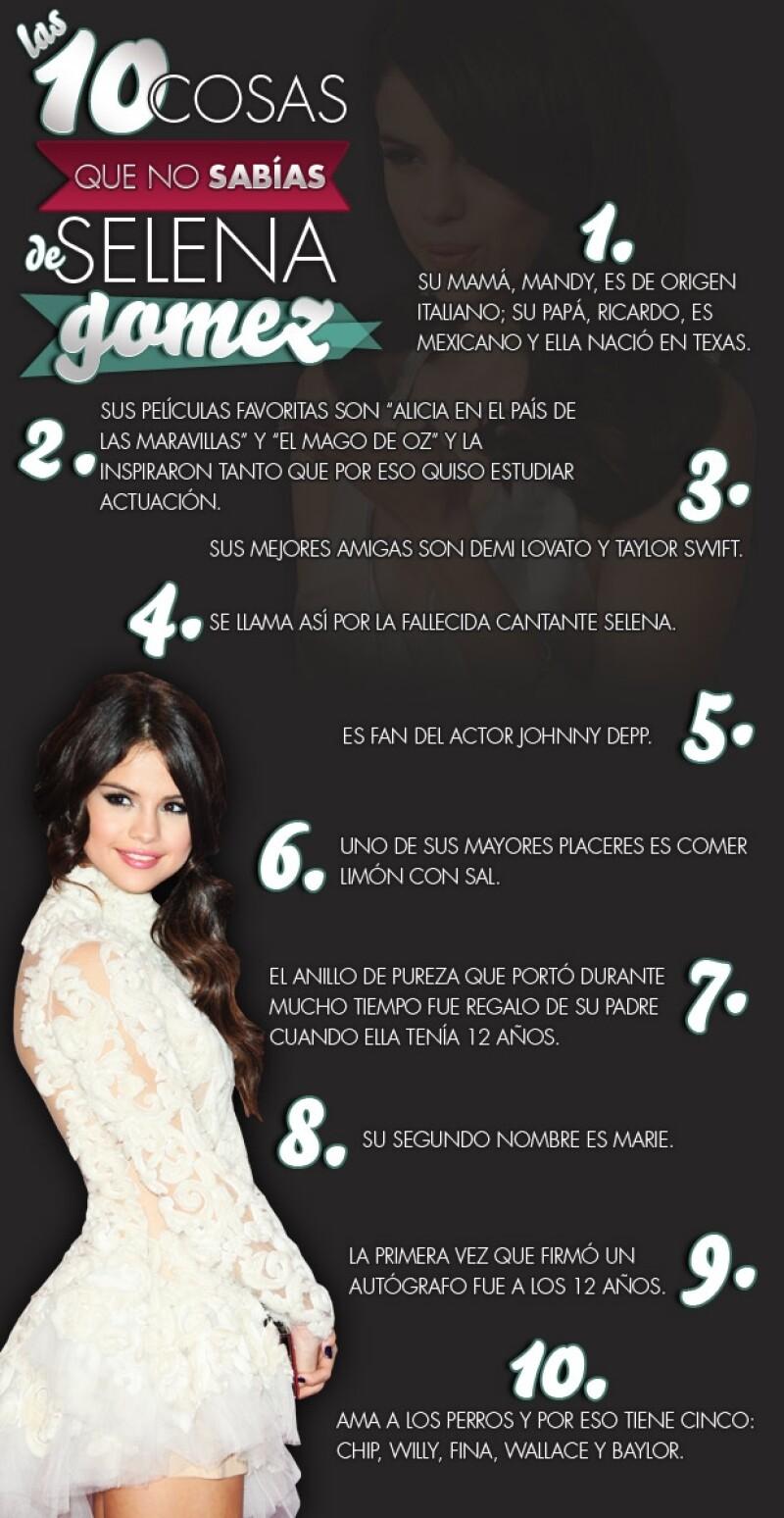 La cantante y novia de Justin Bieber, está en México desde la tarde de ayer. Aquí te decimos algunos detalles de la vida de la también actriz, de 19 años.
