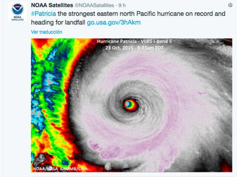 Algunas de las imágenes que el National Oceanic and Atmospheric Administration ha publicado del avance de Patricia.