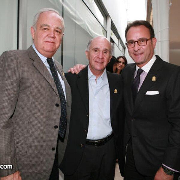 Francisco Unzueta, Francisco Mijares y Marco Beteta