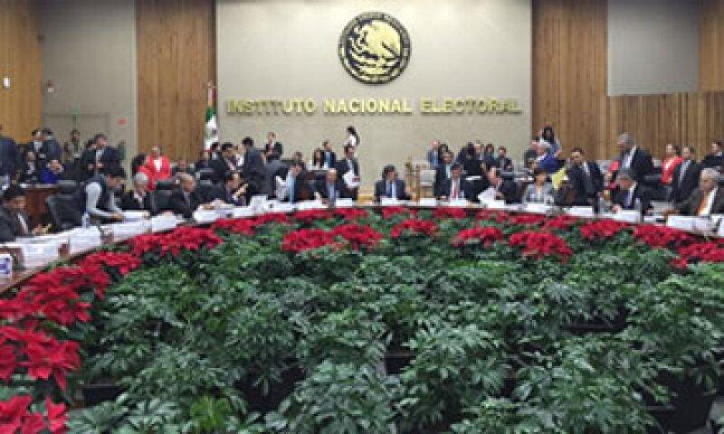 Los consejeros electorales aprobaron por unanimidad el financiamiento para partidos en 2016 (Foto: Cortesía).