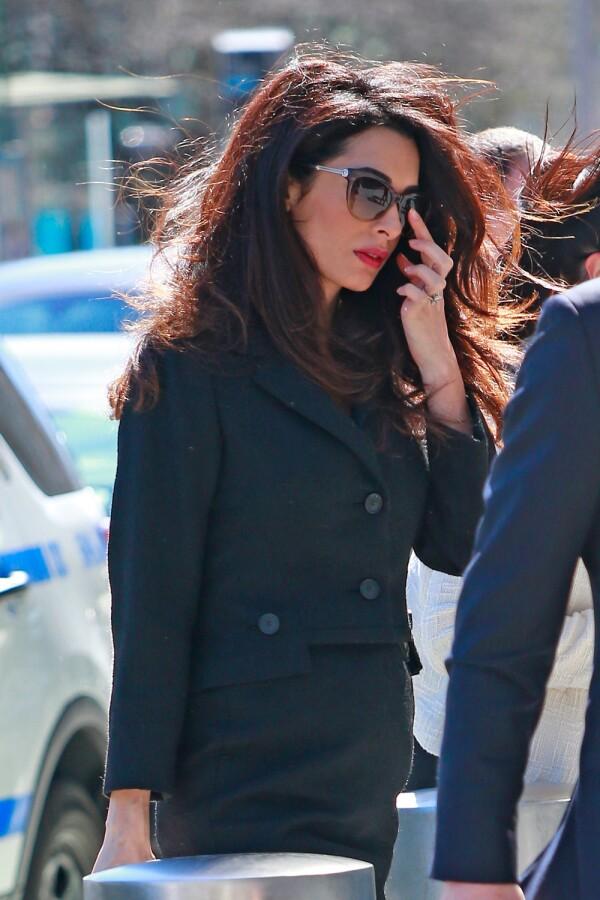 Amal Clooney por calles de Nueva York.