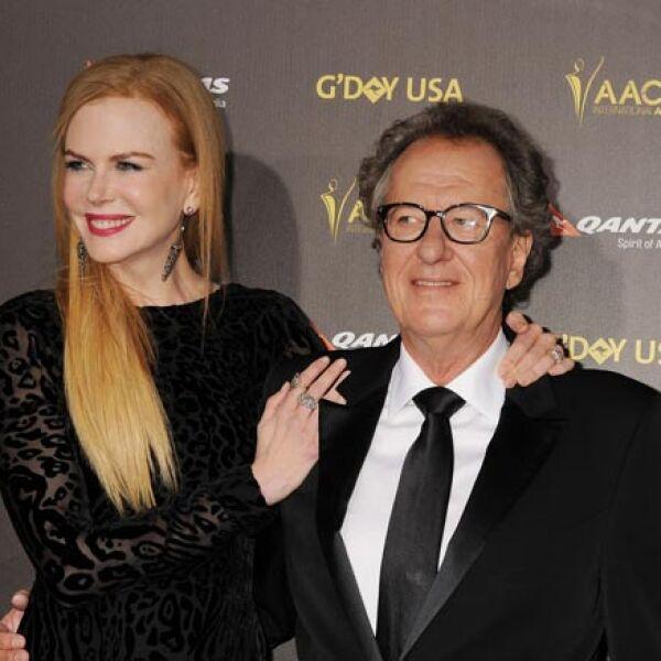 Nicole Kidman y Geoffrey Rush.
