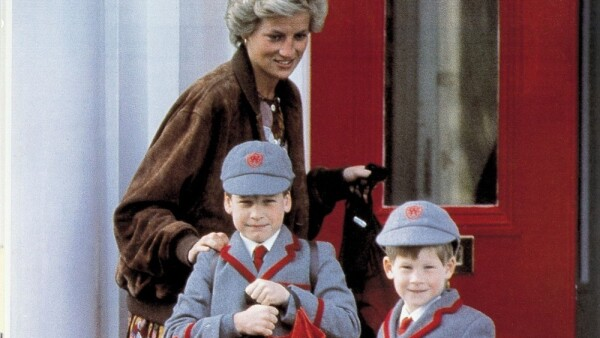 Lady Di, príncipe William y el príncipe Harry