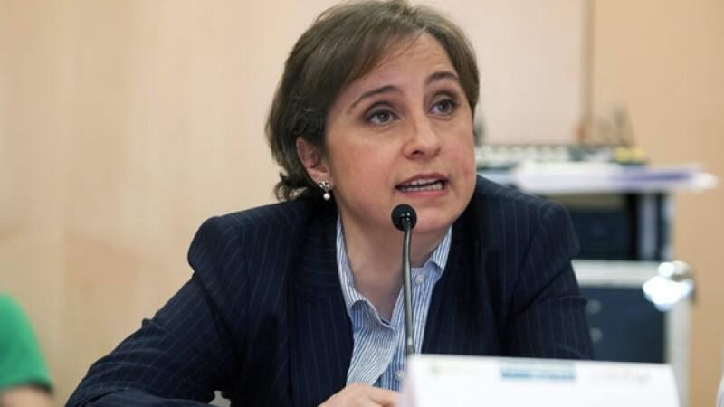 La periodista mexicana Carmen Aristegui concluyó este domingo su relación laboral con MVS Noticias
