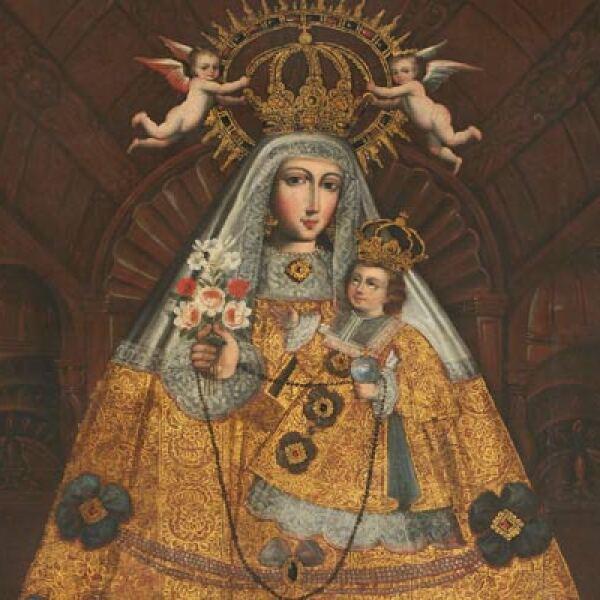 Autor: Escuela Cuzqueña. Material: Óleo sobre tela. Tamaño: 213 x 151.3 cm. Origen: Col. Museo de Arte de Lima, Lima, Perú.