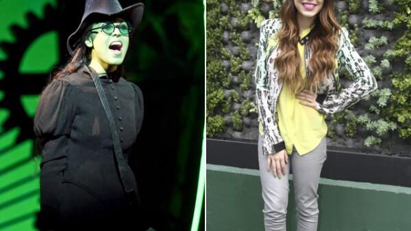 Danna Paola debutó como bruja ayer en Wicked.