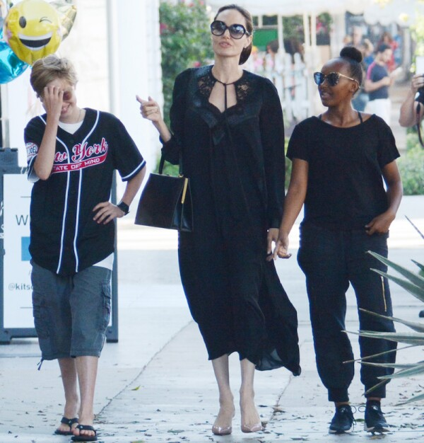 Angelina Jolie and daughters out and about, Los Angeles, USA - 22 Aug 2018