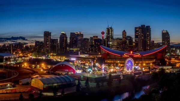 Panorámica de Calgary y el Stampede