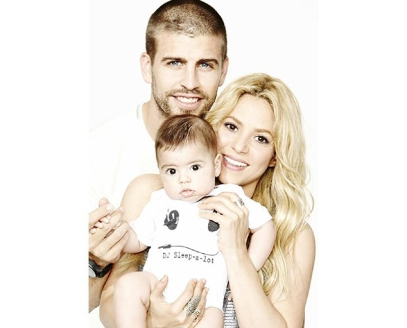 Shakira, Piqué y Milan suelen posar para las cámaras.