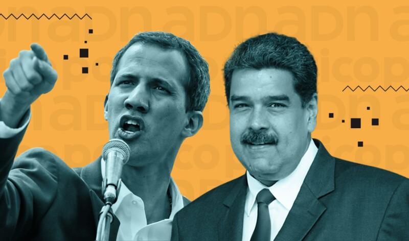 Dos presidentes de Venezuela