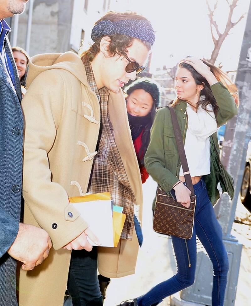 Esta fue la segunda vez que Harry y Kendall fueron captados juntos a la salida de un hotel en Nueva York.