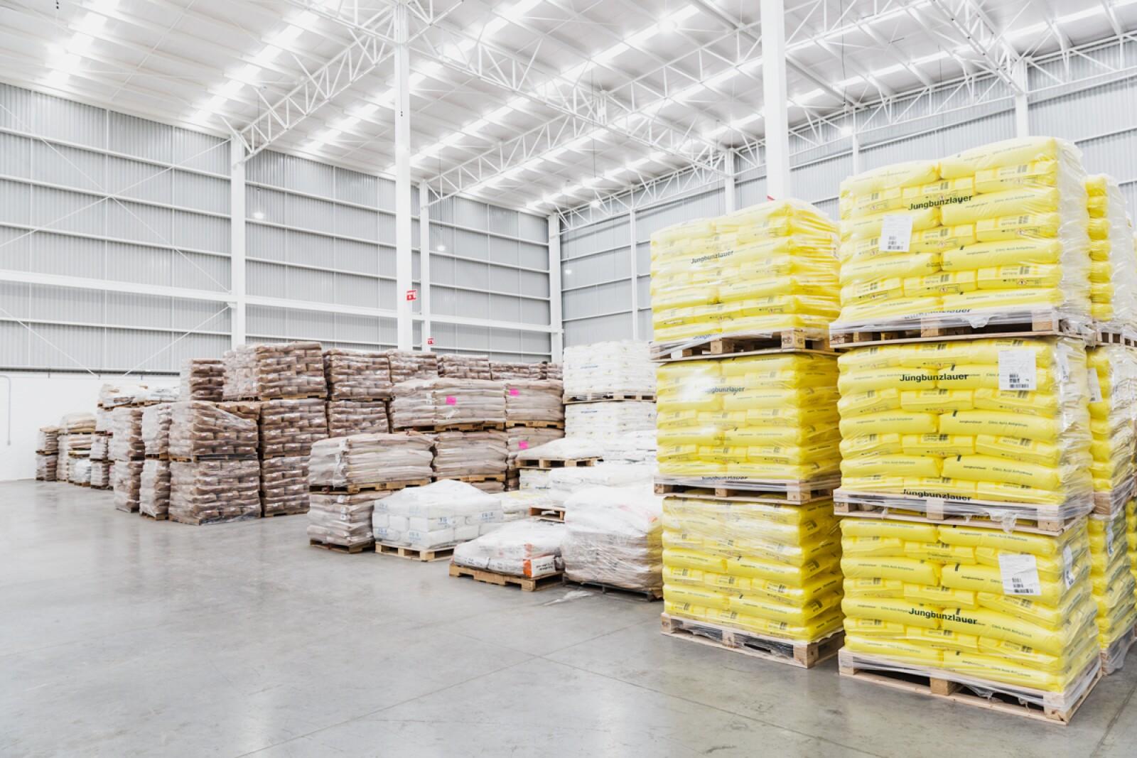 Área para productos inorgánicos