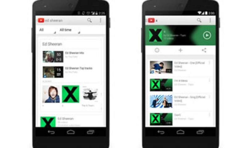 El servicio incluye acceso a Google Play Music. (Foto: Tomada de youtube-global.blogspot.mx/ )
