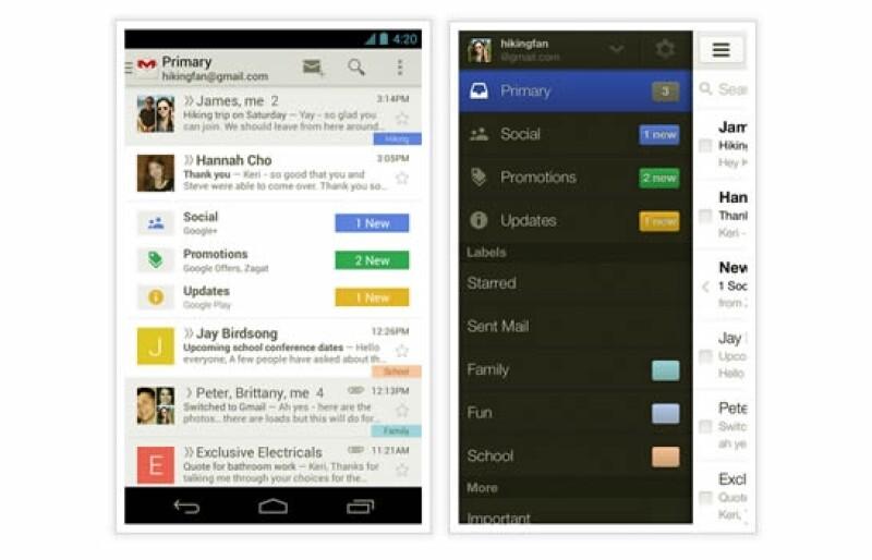 Gmail colores correo electrónico