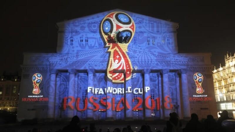 El logo oficial del Mundial de futbol de Rusia 2018, develado en octubre de 2014