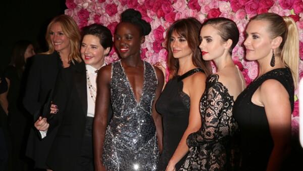 Julia Roberts, Isabella Rossellini, Lupita Nyong´o, , Penélope Cruz, Lily Collins y Kate Winslet encabezaron el evento como embajadoras de una conocida marca de belleza.