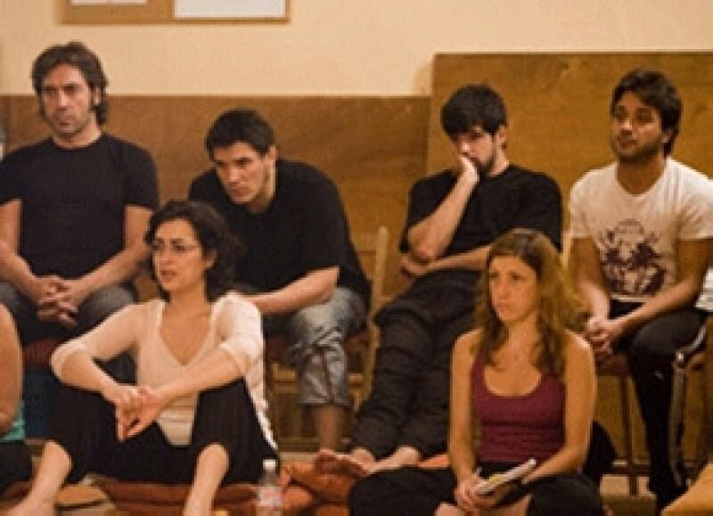 Javier Bardem durante una clase en el Estudio Corazza.