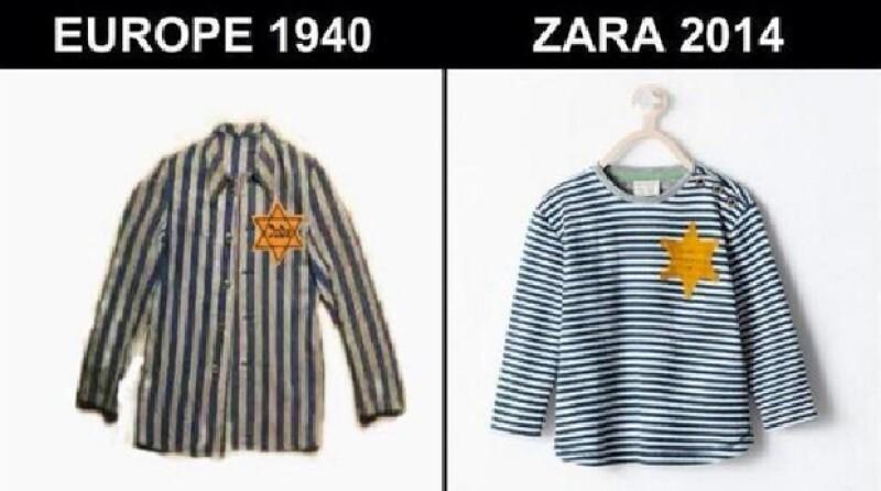 Grupo Inditex se vio obligado a sacar del mercado un diseño para bebés que era muy semejante a las camisetas que debieron usar los judíos durante la II Guerra Mundial.