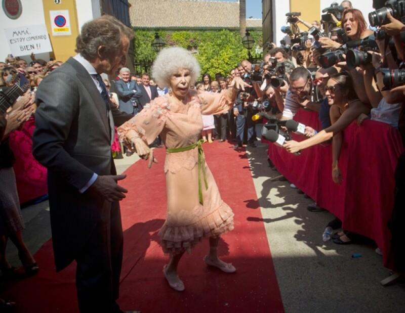 La duquesa de Alba es una gran apasionada del baile y del flamenco.