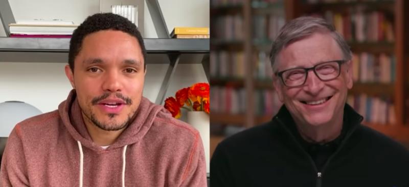 Trevor Noah y Bill Gates