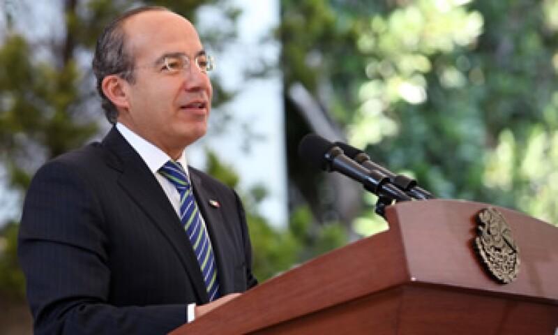 El presidente Felipe Calderón aseguró que su Gobierno estará atento para castigar prácticas ilegales de comercio.(Foto: Presidencia de la República)