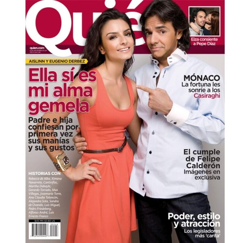Eugenio y Aislinn Derbez aparecen en la nueva portada de la revista Quién.