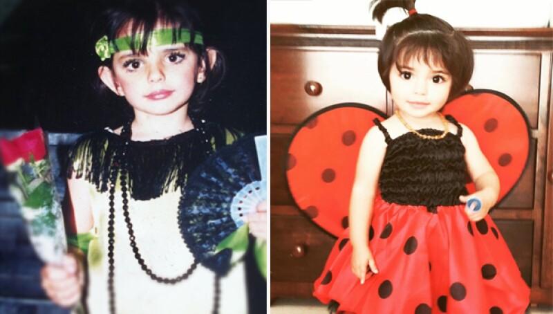 Las dos hijas de Eugenio Derbez no sólo comparten el mismo lazo sanguíneo, sino rasgos y expresiones muy parecidas. ¿Estaremos viendo en Aislinn el futuro físico de Aitana?